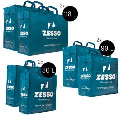 Zesso Big Shopper Mix Zesso Bag 2x M, 2x L, 2x XL - Voordeelpakket Set van 6