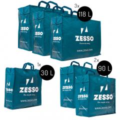Zesso Big Shopper Mix Zesso Bag 1x M, 2x L, 3x XL - Voordeelpakket Set van 6