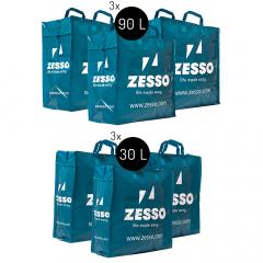 Zesso Big Shopper Mix Zesso Bag 3x M, 3x L - Voordeelpakket Set van 6