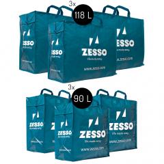 Zesso Big Shopper Mix Zesso Bag 3x L, 3x XL - Voordeelpakket Set van 6