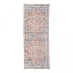 House Collection Tapis de Couloir 80 x 200 cm Capri Orange-Bleu