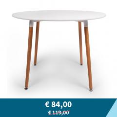 Tweedekans - BAM-Meubel Eettafel Pixie Ø 100 cm Wit