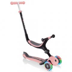 Globber 3-in-1 Scooter Vanaf 1 Jaar Go Up Foldable Plus Lights Roze