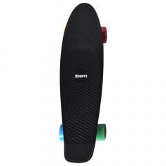 """Move Skateboard 22"""" Old School Retro Board Black"""