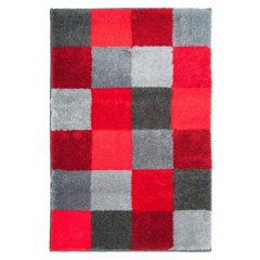 Casilin Tapis de Bain Blocks 60 cm x 90 cm Red