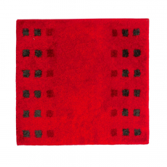 Casilin Tapis de Bidet Brica 60 cm x 60 cm Red
