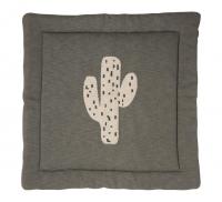 Quax Tapis d'Éveil & Tapis de Parc Tricot Cactus - 100 cm x 100 cm