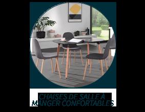 Chaises de salle à manger confortables