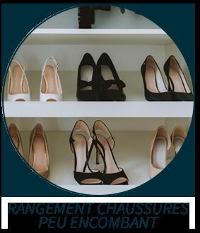 Rangement chaussures peu encombant